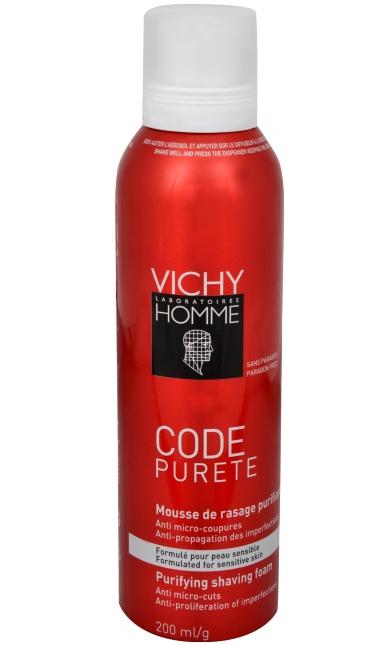 Vichy Čistící pěna na holení Homme Code Purete 200 ml