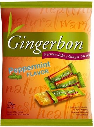 PT Angel Langgeng - Indonesia Gingerbon Zázvorové bonbony s mátou 125 g