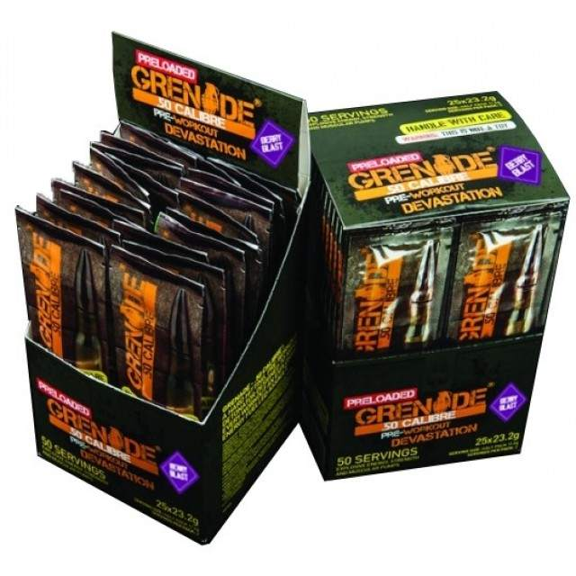 Grenade .50 Calibre Pre-Loaded (lemon raid) 25 x 23,2 g