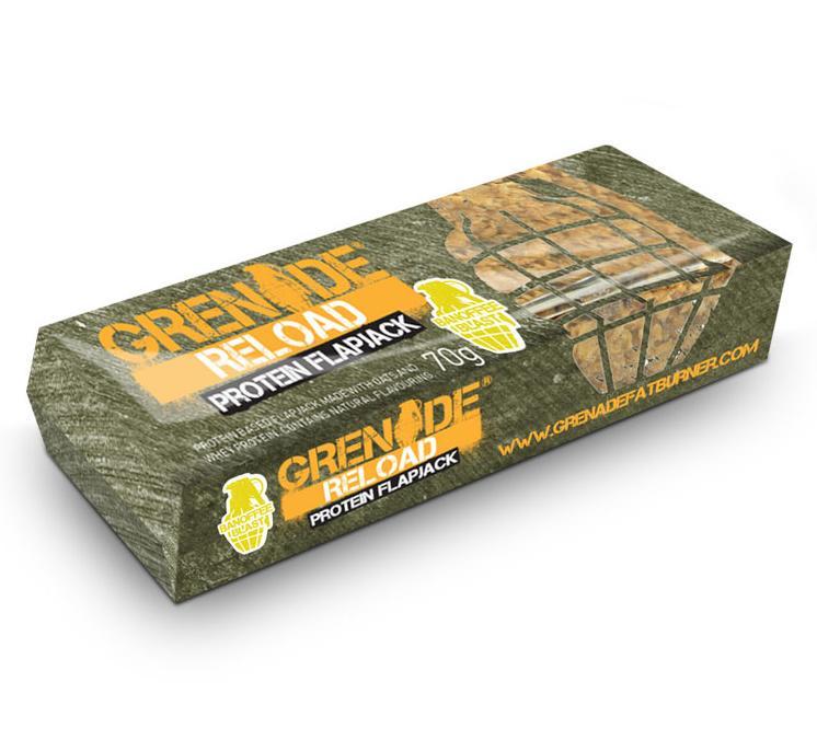 Grenade Reload Protein Flapjack proteinová tyčinka banán 70 g