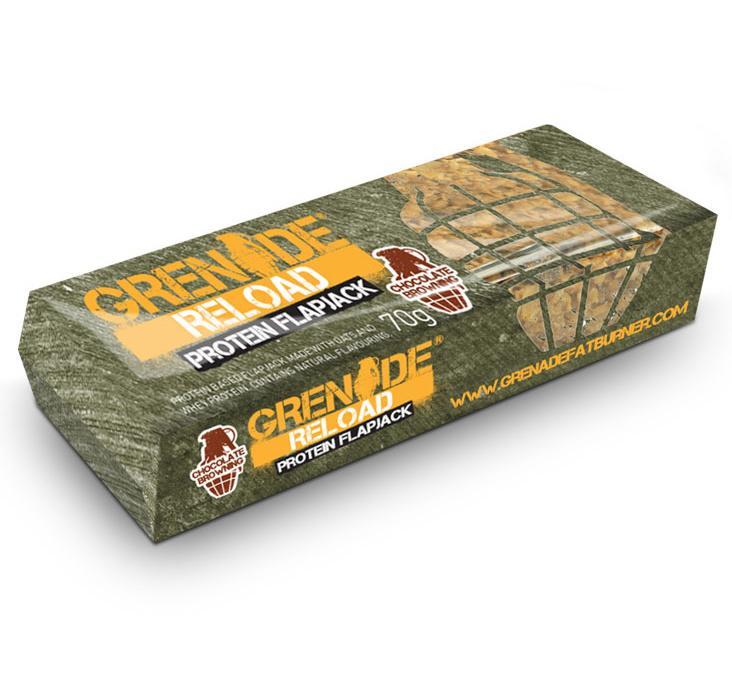 Grenade Reload Protein Flapjack proteinová tyčinka čokoláda 70 g
