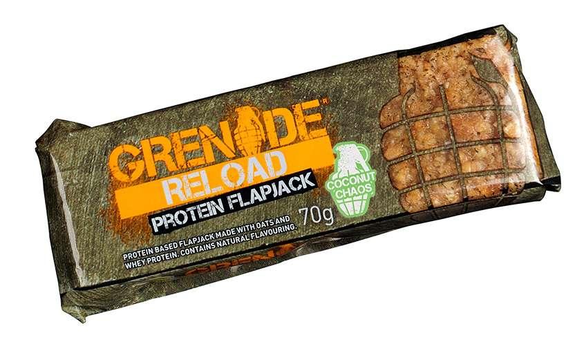 Grenade Reload Protein Flapjack proteinová tyčinka kokos 70 g