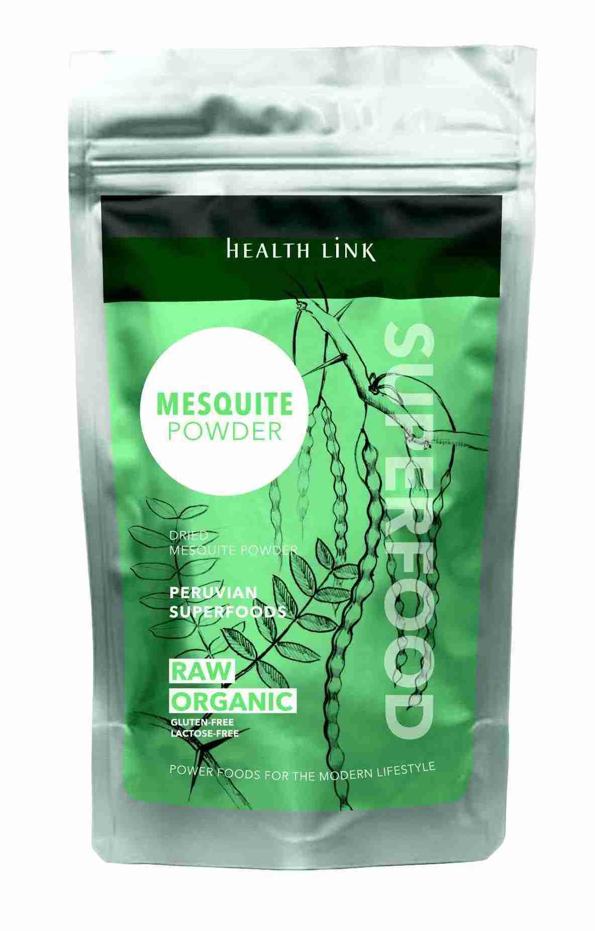 Health Link Bio Mesquite prášek Raw 300 g