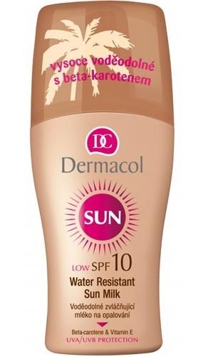 Dermacol Voděodolné zvláčňující mléko na opalování ve spreji SPF 10 Sun 200 ml