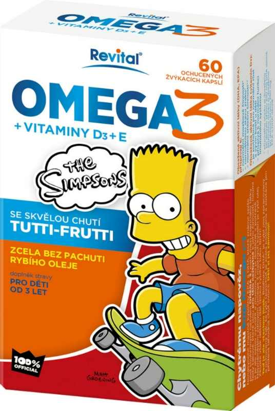 Vitar The Simpsons Omega 3 + vitaminy D3 a E 60 kapslí