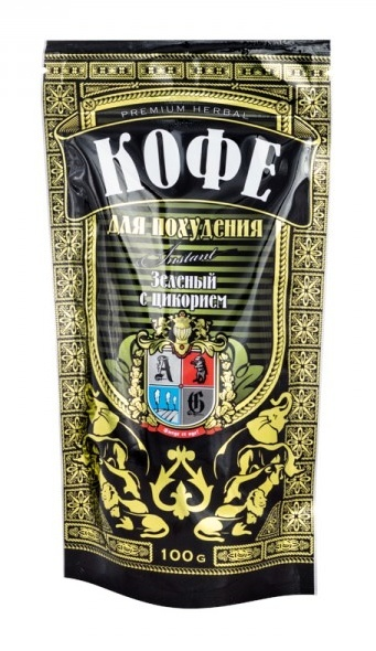 AG Company Zelená káva rozpustná s čekankou na podporu hubnutí (granule) 100 g