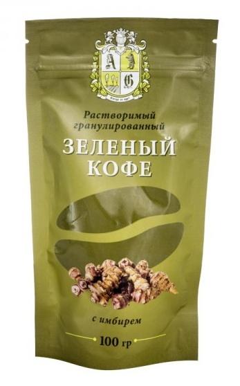 AG Company Zelená káva rozpustná se zázvorem (granule) 100 g