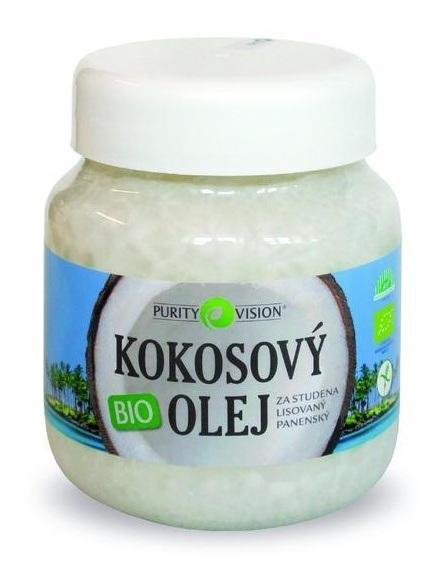 Purity Vision Bio Panenský kokosový olej lisovaný za studena 360 ml