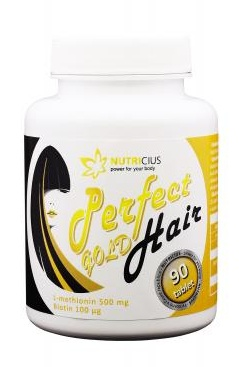 Nutricius Perfect hair gold - methionin 500 mg + biotin 100 µg 90 tbl.