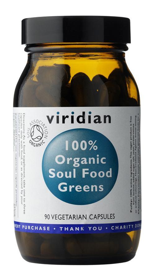 Viridian 100% Organic Soul Food Greens 90 kapslí