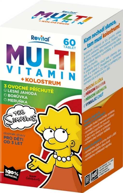 Vitar The Simpsons Multivitamin + kolostrum 60 tbl.