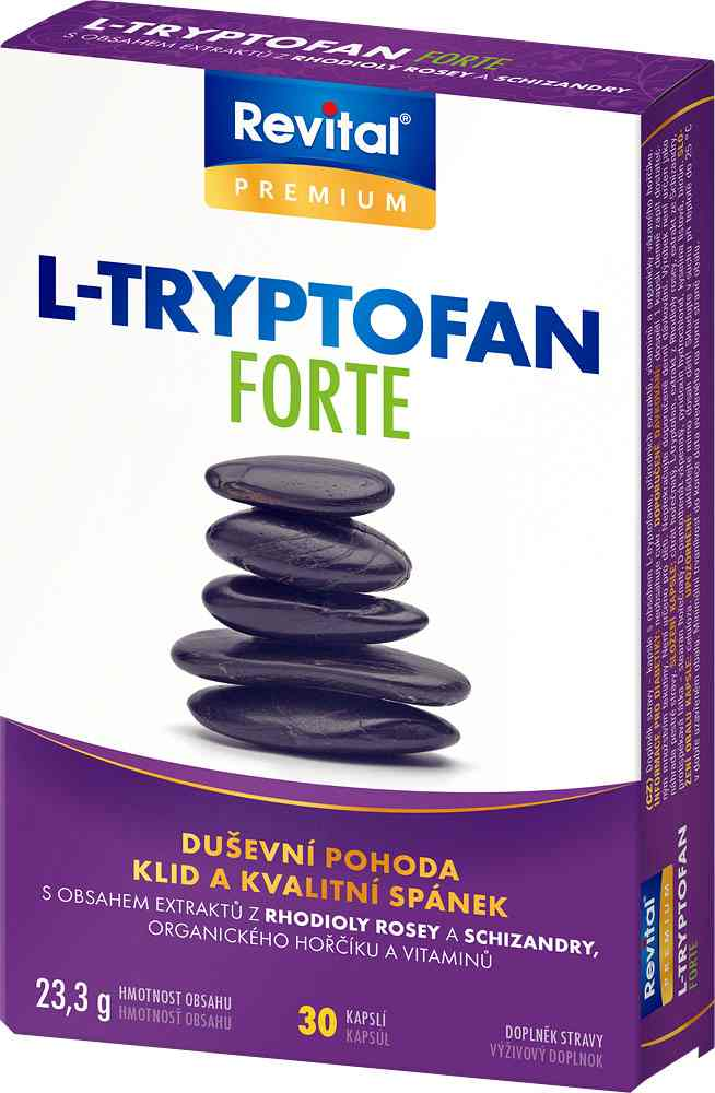 Vitar Revital L-Tryptofan Forte 30 kapslí