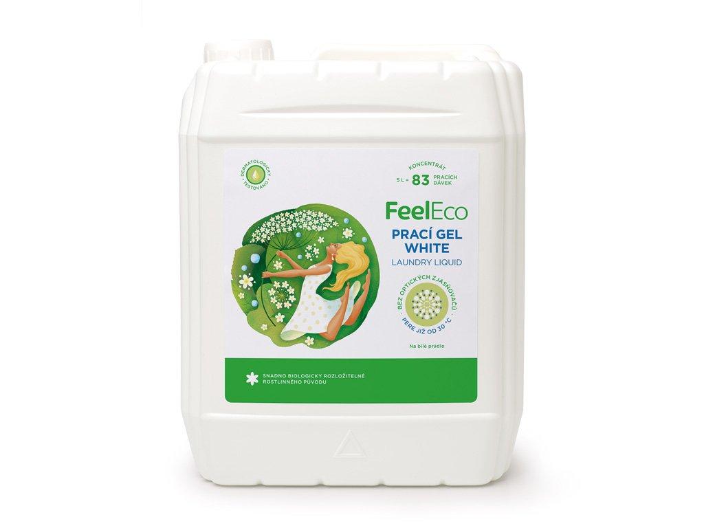 Feel Eco Prací gel White na bílé prádlo 5 L s dávkovací pumpičkou