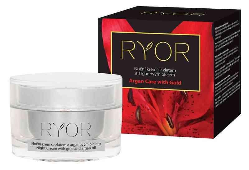 Ryor Noční krém se zlatem a arganovým olejem 50 ml