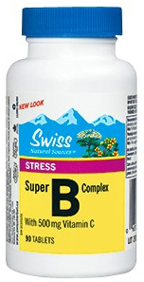 Swiss Herbal Remedies Ltd Swiss Super B complex s vitaminem C 500 mg 90 tbl.