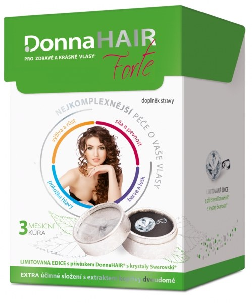 Simply You Donna Hair Forte 90 tob. + přívěšek Swarovski ZDARMA (model 2016)