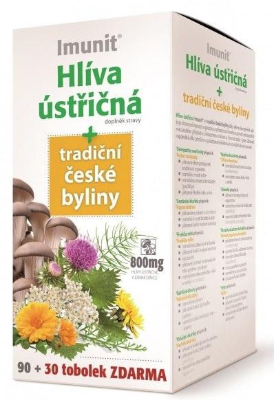 Simply You Pharmaceuticals a.s. Imunit Hlíva ústřičná 800 mg tradiční české byliny 90 tob. + 30 tob. ZDARMA