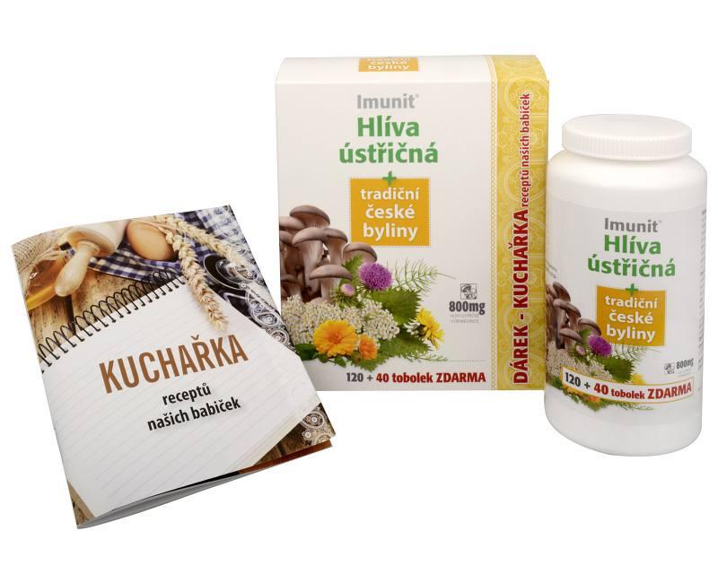 Simply You Imunit Hlíva ústřičná 800 mg tradiční české byliny 120 tob. + 40 tob. ZDARMA