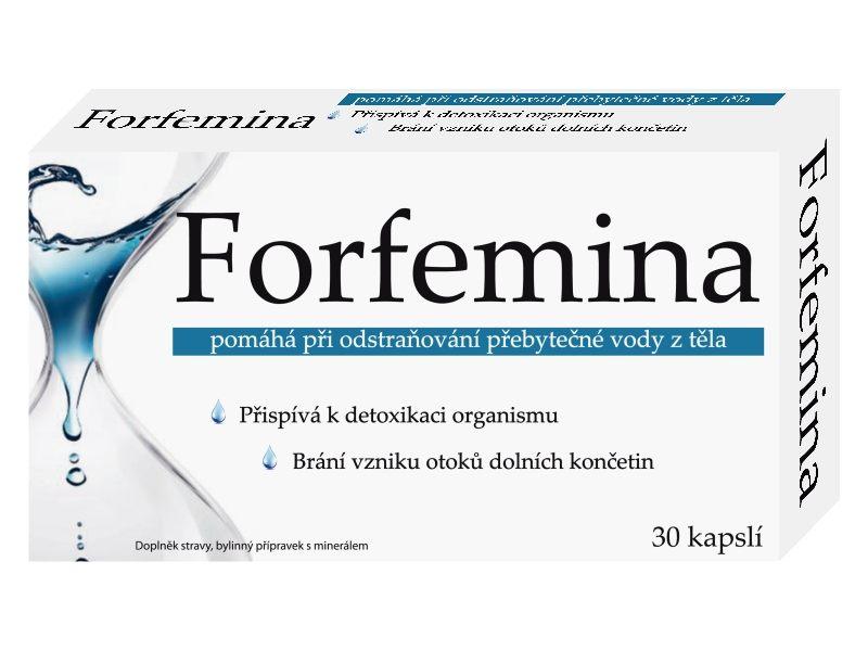Naturprodukt Forfemina na odvodnění těla 30 kapslí