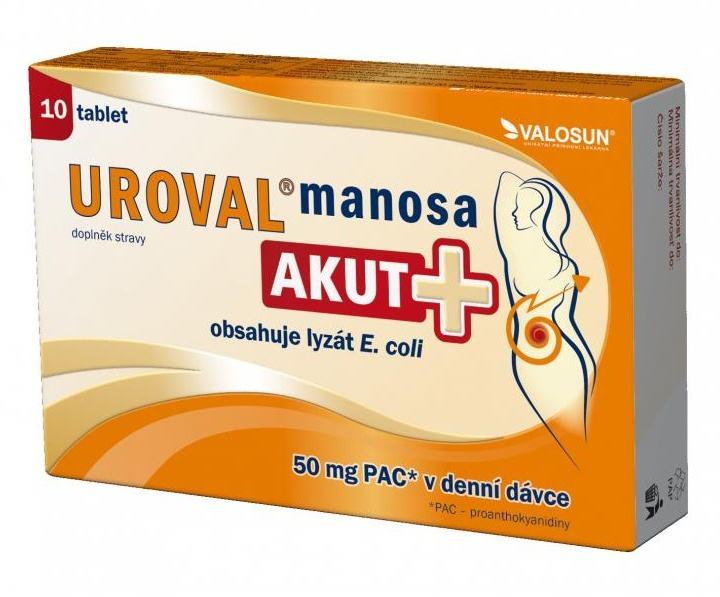 Valosun Uroval Manosa Akut+ 10 tbl.