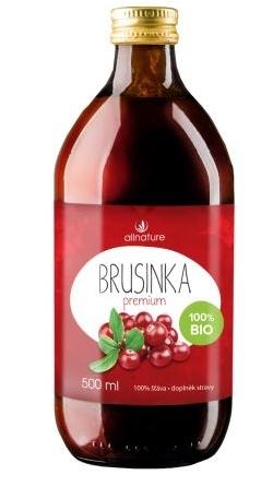 Allnature Brusinka Premium BIO šťáva 500 ml