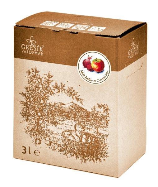 Grešík Mošt Jablko & Červená řepa ovocno-zeleninová šťáva 3 l