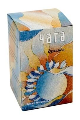 Čaga - Rezavec šikmý 166 dražé (50 g)