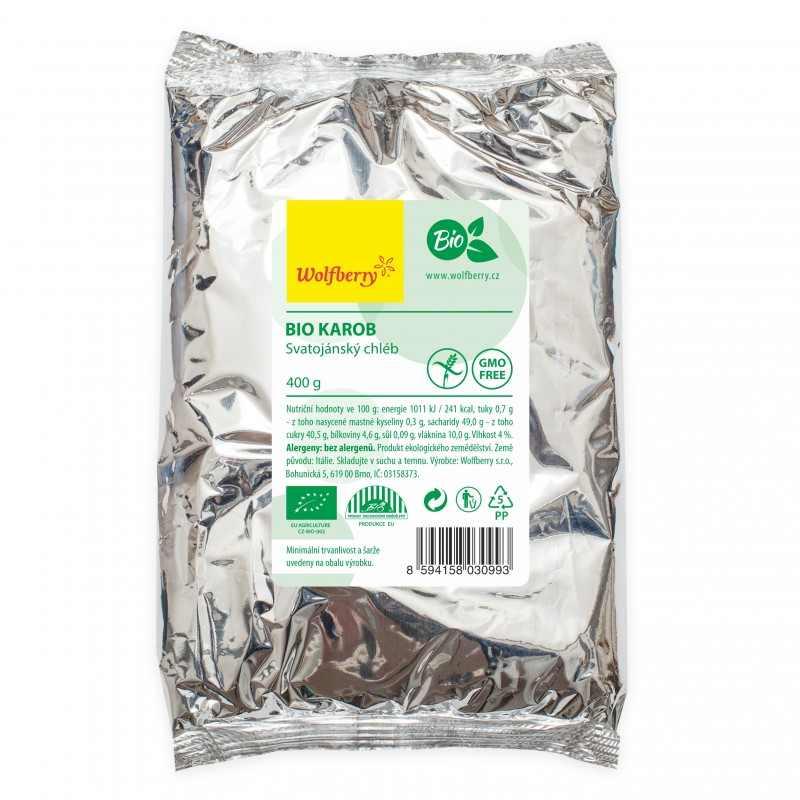 Wolfberry Bio Karobový prášek tmavý Raw 400 g