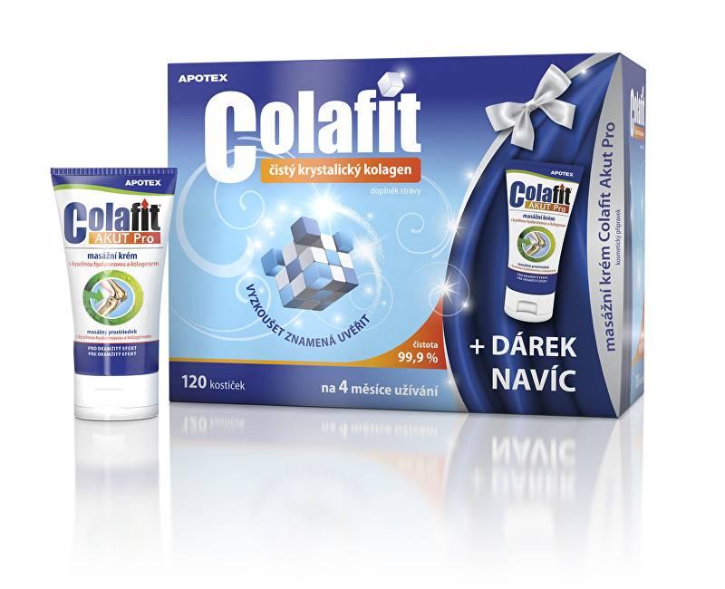 Apotex Colafit (čistý kolagen) 120 kostiček + masážní krém Colafit Akut Pro 50ml