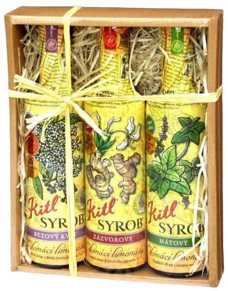 Kitl Syrob pro domácí limonády Bez & Zázvor & Máta - dárkové balení