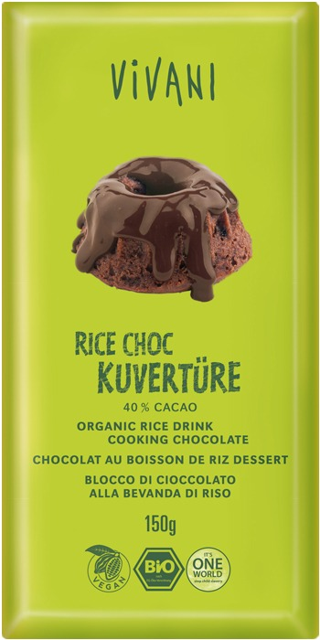 Vivani Bio Čokoláda na vaření rýžová 150g