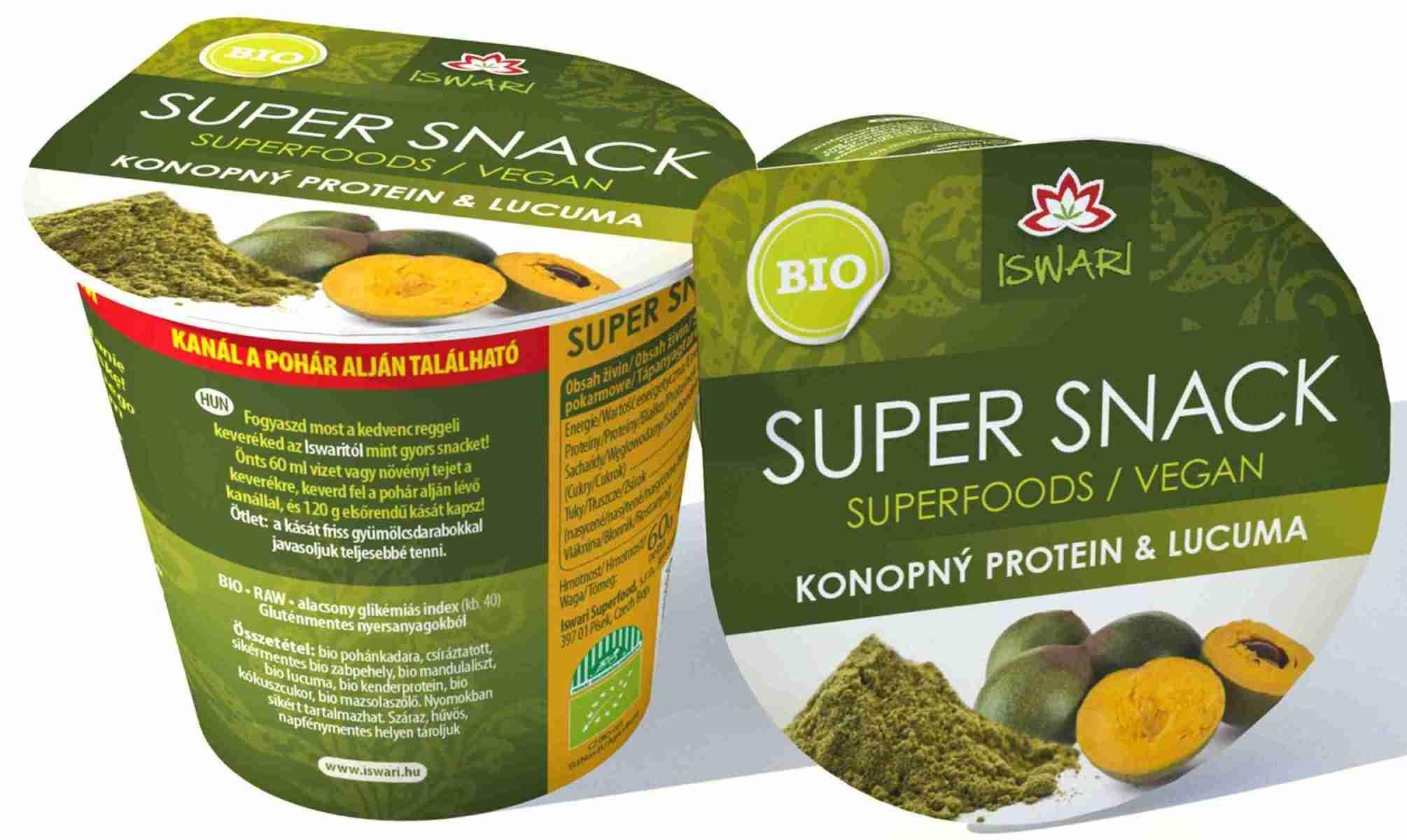 Iswari Bio SuperSnack konopný protein & lucuma Raw 60 g