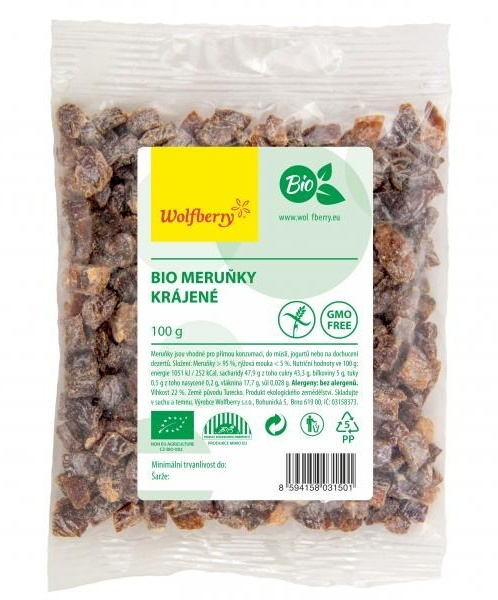 Wolfberry Bio Meruňky krájené Raw 100 g
