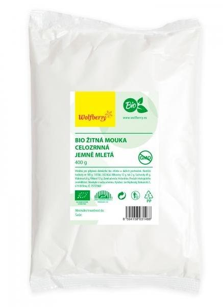 Wolfberry Bio Žitná mouka celozrnná jemně mletá 400 g