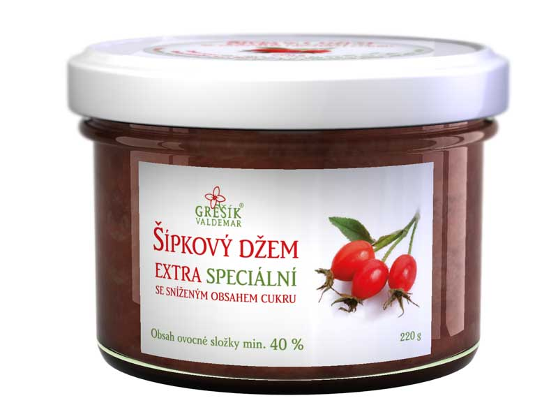 Grešík Šípkový džem Extra speciální 220 g