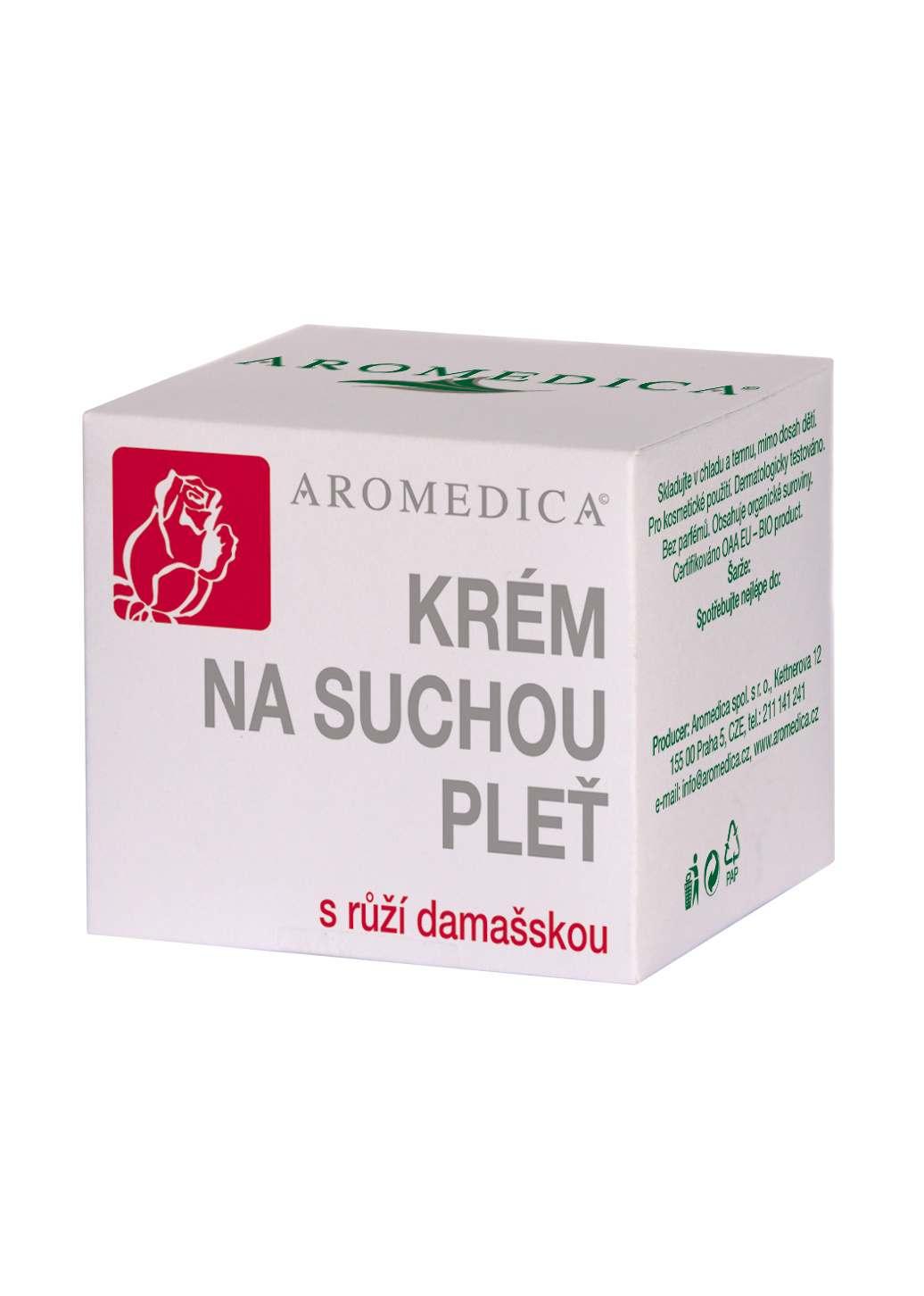 Aromedica Krém na suchou pleť s růžovým olejem 50 ml