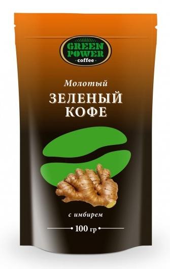 AG Company Zelená káva mletá se zázvorem 100g