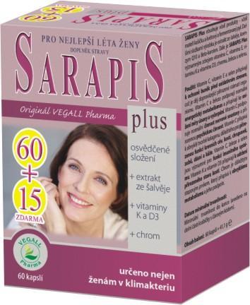 Sanamed Sarapis Plus 60 kapslí + 15 kapslí ZDARMA