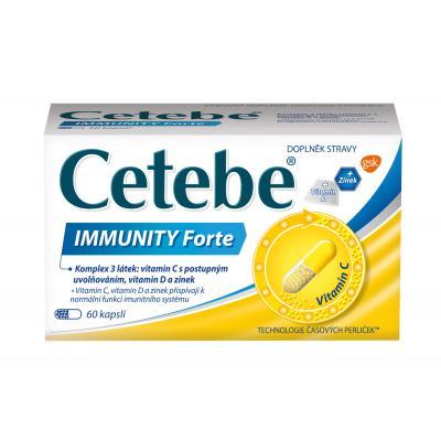 GlaxoSmithKline Cetebe Immunity Forte 60 kapslí
