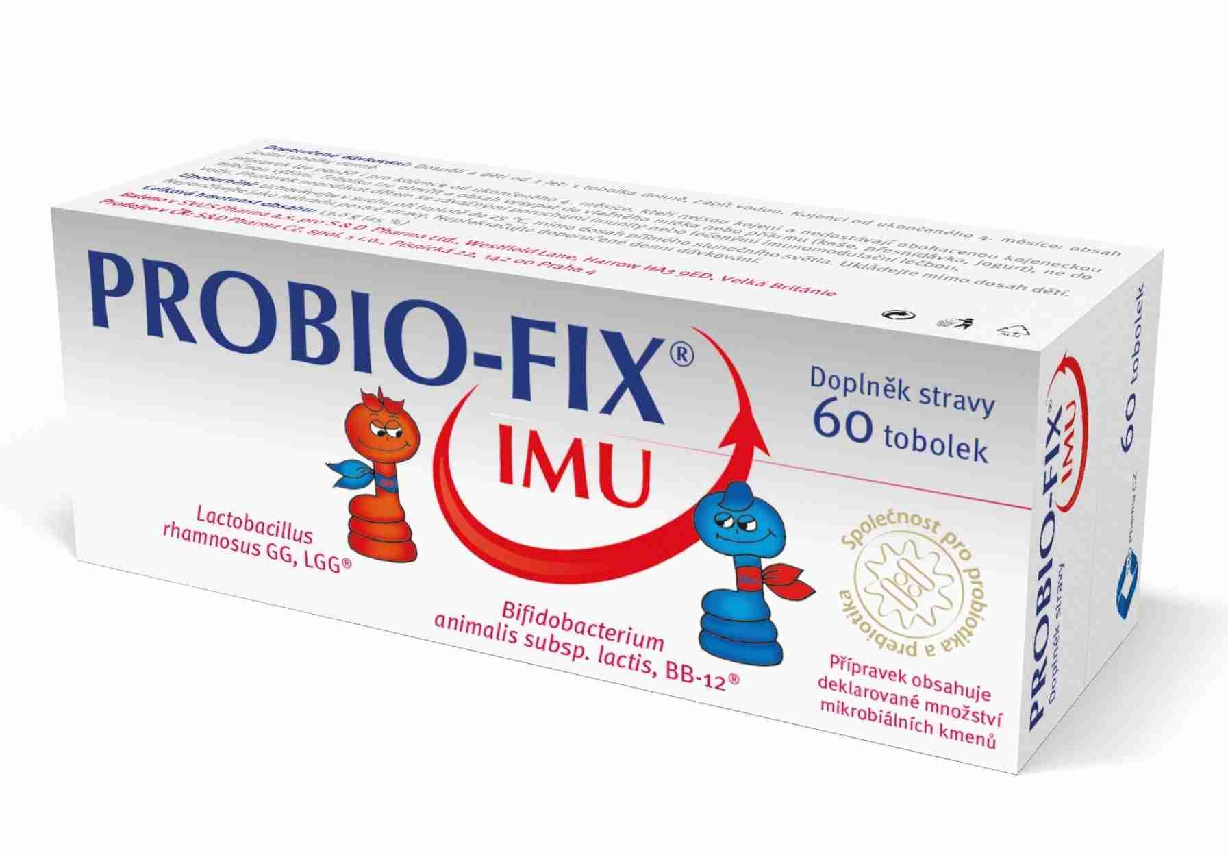 Svus Pharma a.s., Hradec Králové Probio-Fix IMU 60 tob.