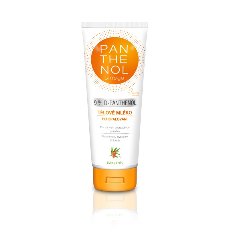 Omega Pharma Panthenol Omega 9 % tělové mléko s rakytníkem 250 ml