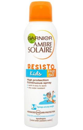 Loreal Paris Garnier Ochranný opalovací sprej pro děti SPF 50 Ambre Solaire 150 ml