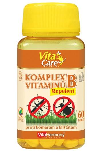 VitaHarmony Komplex vitaminů B Repelent 60 tbl.