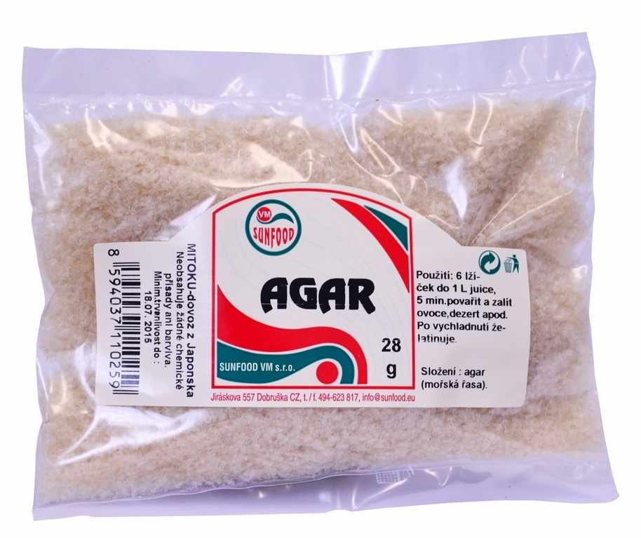 Sunfood Agar - agar přírodní 28 g