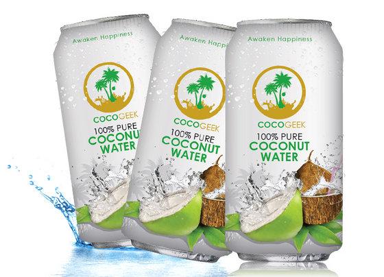 CocoGeek 100% kokosová voda 24x 330 ml