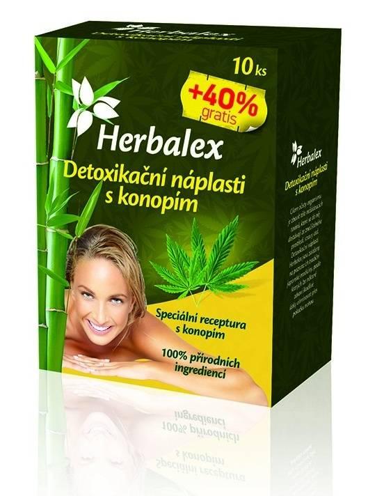 Quantec Pro Herbalex - detoxikační náplasti s konopím 10 ks + 40% ZDARMA