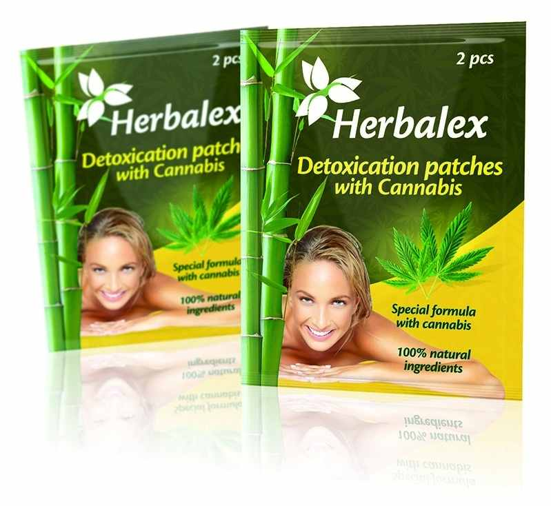 Quantec Pro Herbalex - detoxikační náplasti s konopím 2 ks