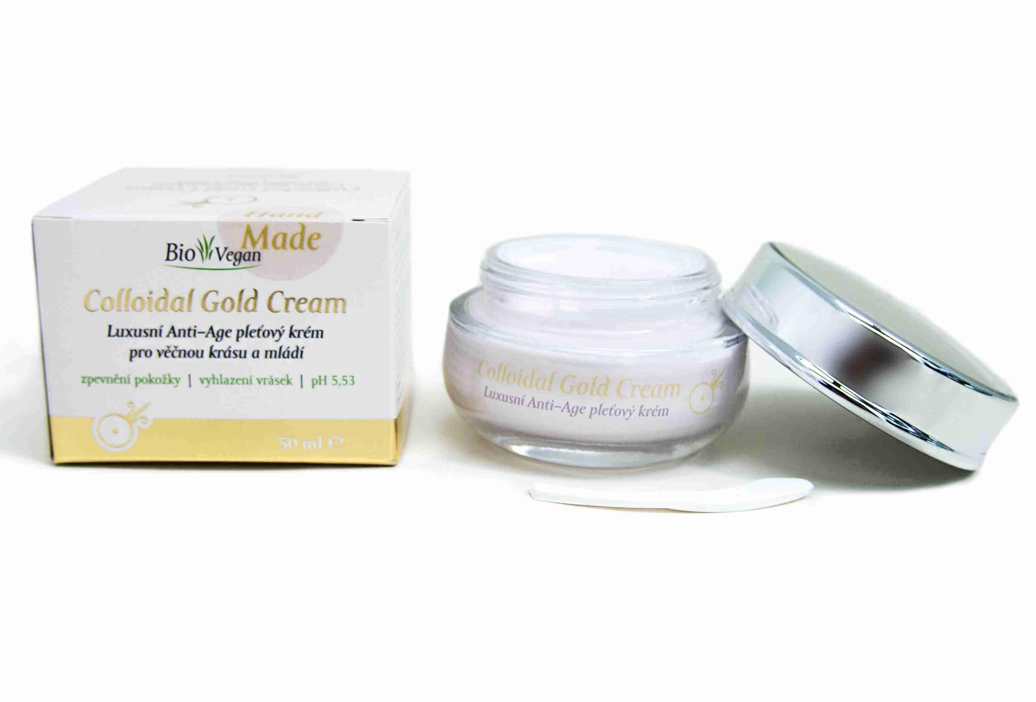 Lakshmi-Narayan Colloidal Gold Cream Luxusní anti-age pleťový krém pro věčnou krásu a mládí 50ml