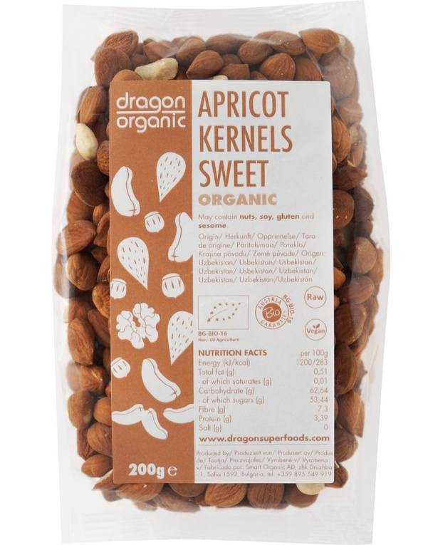Dragon superfoods Bio Meruňková jádra sladká 200 g