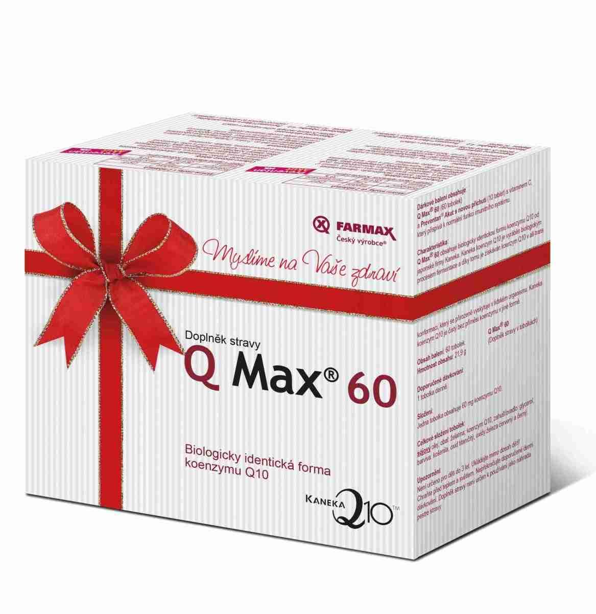 Farmax Q Max 60 60 tob. + Preventan Akut s novou příchutí 10 tbl. ZDARMA